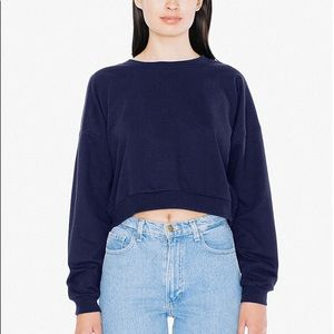 American Apparel Blue Cropped Sweatshirt